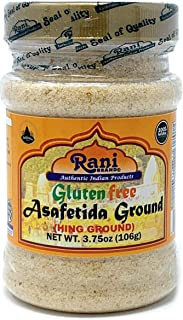 Rani Asafetida Gluten Free Ingredients (Hing) Ground 3.75oz (106gms) ~ All Natural | Salt Free | Vegan | NON-GMO | Asafoetida Indian Spice | Best for Onion Garlic Substitute