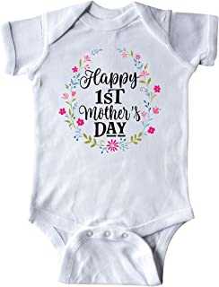 inktastic Happy 1st Mothers Day Outfit Girls Infant Creeper