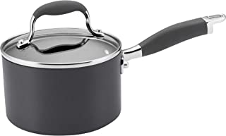 Anolon 81882 Advanced Hard Anodized Nonstick Sauce Pan/Saucepan with Lid, 2 Quart, Gray
