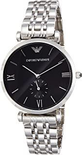 Emporio Armani Mens Quartz Watch, Analog Display and Stainless Steel Strap AR1676