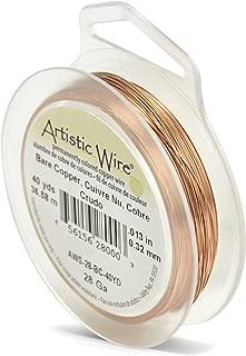 Beadalon Artistic Wire 28-Gauge Bare Copper Wire, 40-Yards