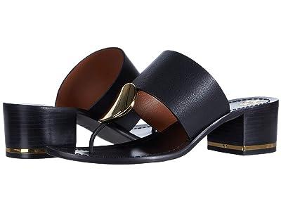 Tory Burch 45 mm Patos Disk Sandal (Perfect Black) Women