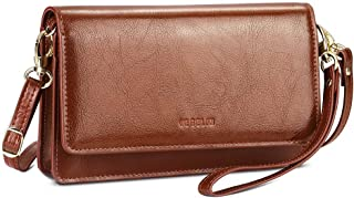 Womens Small Crossbody Bags Premium Leather Purses and Handbags Wristlet Wallet with Phone Pocket and Card Slots (Gift Box)