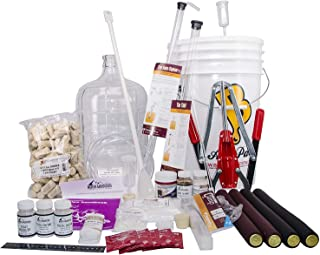 North Mountain Supply 3 Gallon Wine from Fruit Complete 32pc Kit with Glass Carboy - Only Fruit & Bottles Required