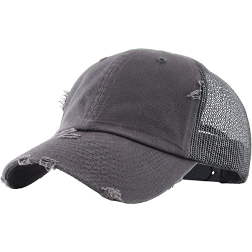 Vintage Washed Mesh Back Cotton Dad Trucker Hat Baseball Cap Polo Style 058e03d4d1a