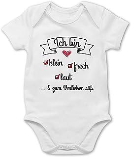 Shirtracer Sprüche Baby - Ich Bin klein frech laut - Baby Body Kurzarm für Jungen und Mädchen