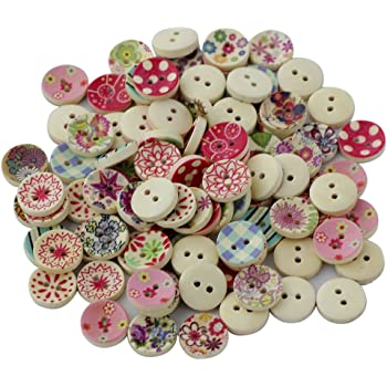 Lot 100 Mixed Assorted PINK Vintage /& New Buttons