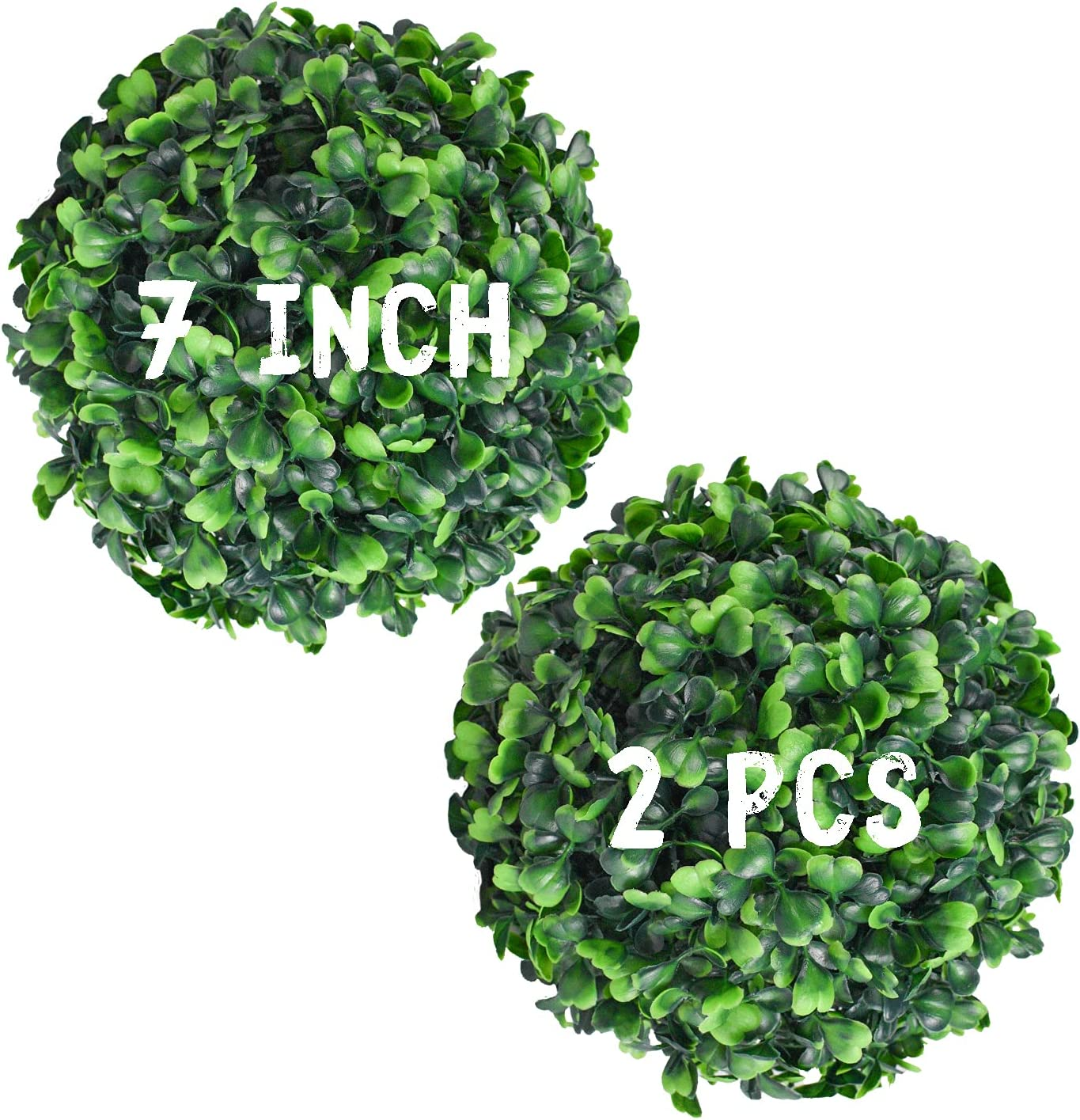 Decwin 2 Pcs Credence 7 Inch Artificial specialty shop Topiary Boxwood Plant Green Ball