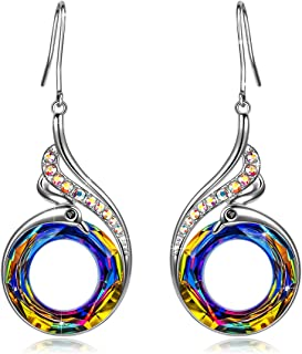 Kate Lynn Woman's ❤️Nirvana of Phoenix❤️ Swarovski Crystals Earrings with Gift Box, Soft Cloth
