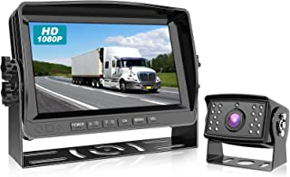 $169 » Fursom 1080P Wired Backup Camera System Kit, Car Reverse Cam with 7 inch Rear View Monitor, IP69 Waterproof Hitch Camera f...