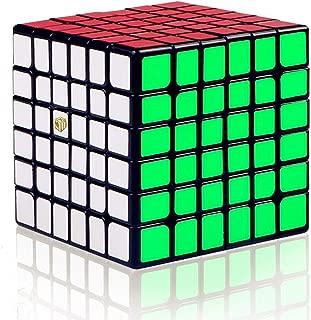 LiangCuber Qiyi Shadow M 6x6 Black Speed Cube Qiyi X-Man Design Shadow Magnetic 6x6 Magic Cube(Magnetic Version)