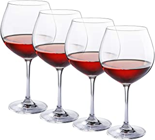 Red Wine Glasses - Crystal Glass - Lead Free - Wine Glasses Set of 4 (27 Ounce)