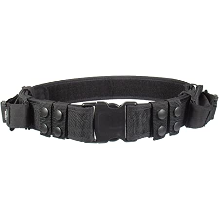 utg, cintura con fodero per pistola haevy duty elite law enforcement pistol  belt, nero (schwarz), taglia unica : amazon.it: sport e tempo libero  amazon.it