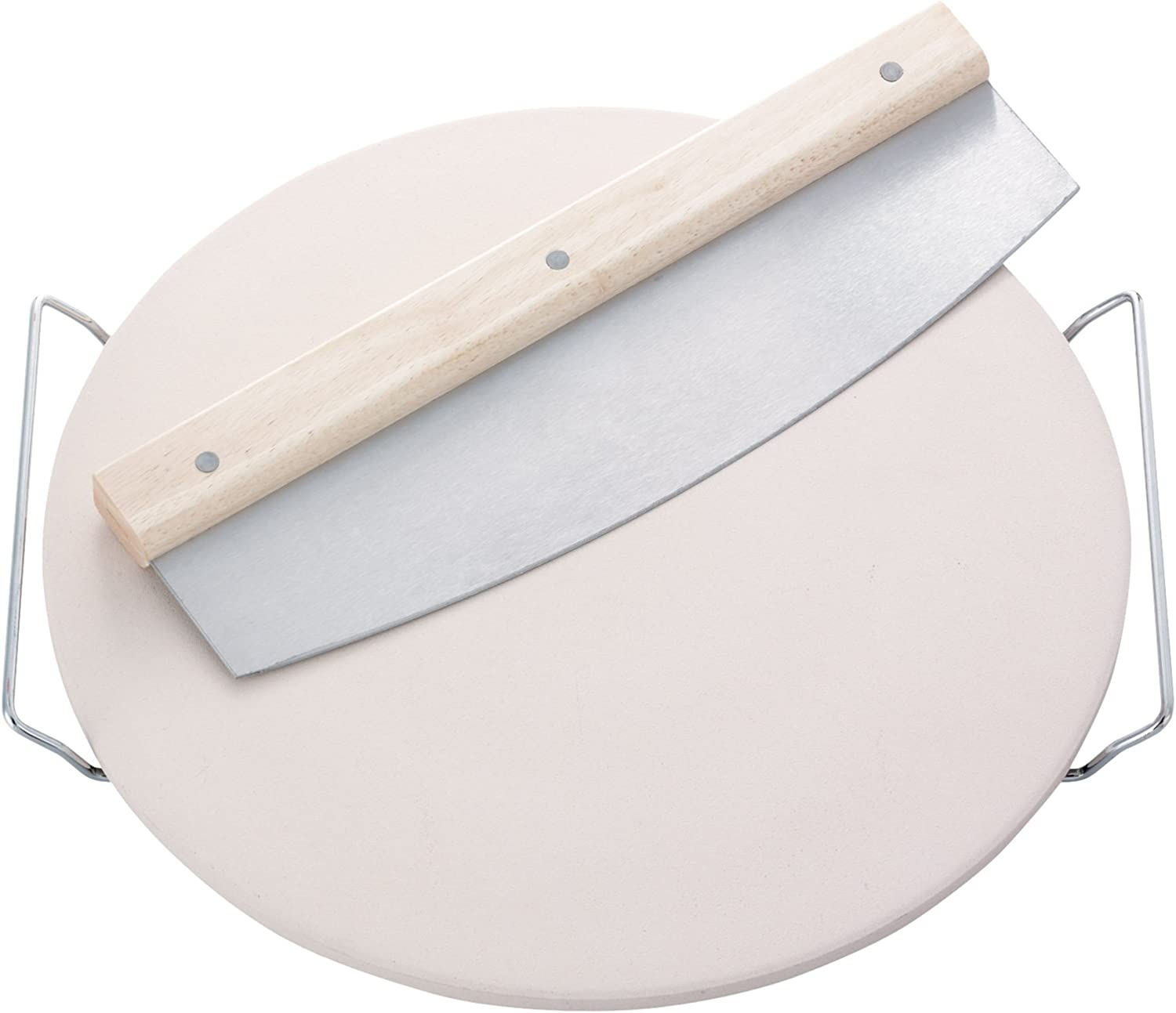 Leifheit Max 65% OFF Round Ceramic Pizza Stone Over item handling and Large Carrying Tray with