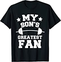 Powerlifting Mom Or Dad T-Shirt My Son's Greatest Fan Gift