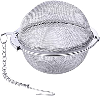Xiazhi 2pcs Stainless Steel Mesh Tea Ball Strainers, 2.6 inch Tea Infuser Strainers Filter Loose Leaf Tea Interval Diffuser