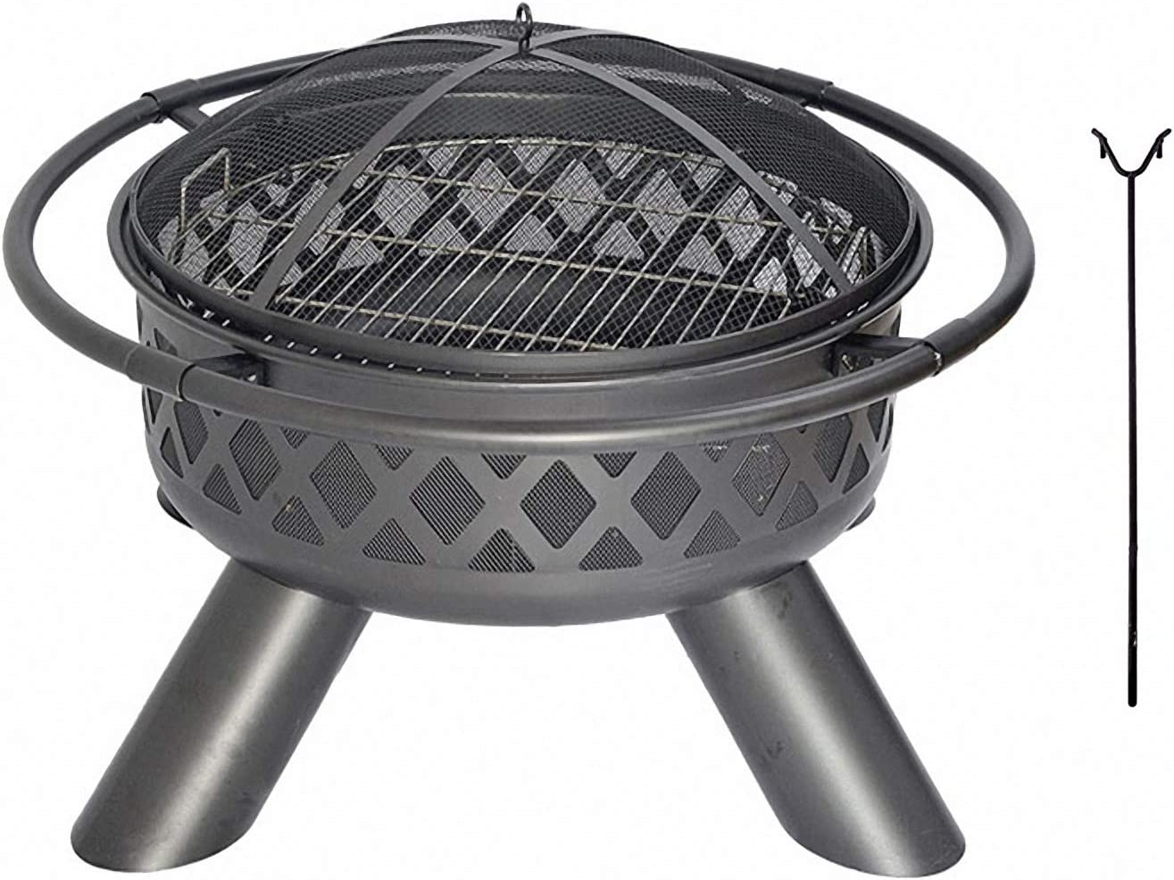 Grill 2021new shipping free shipping Fire Discount mail order Pit Wood 37.5in Out - Burning