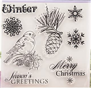 Mimgo Christmas Transparent Silicone Clear Rubber Stamp Cling Diary Scrapbooking DIY