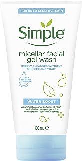 SIMPLE Water Boost Micellar Facial Gel Wash, 150 milliliters