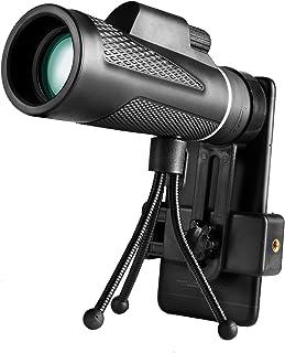 Yinuoday Monoculaire Telescoop, 40x60 Mobiel Monoculaire met Telefoonhouder Statief voor Wildlife Vogel Kijken Jacht Camping