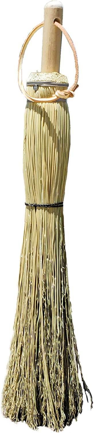 Authentic Hand Made All Broomcorn Broom (17.5-Inch/Hand) : Health & Household