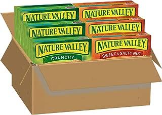 Nature Valley, Sweet & Salty Dark Chocolate Peanut Almond, Bulk Gift (Pack of 6)