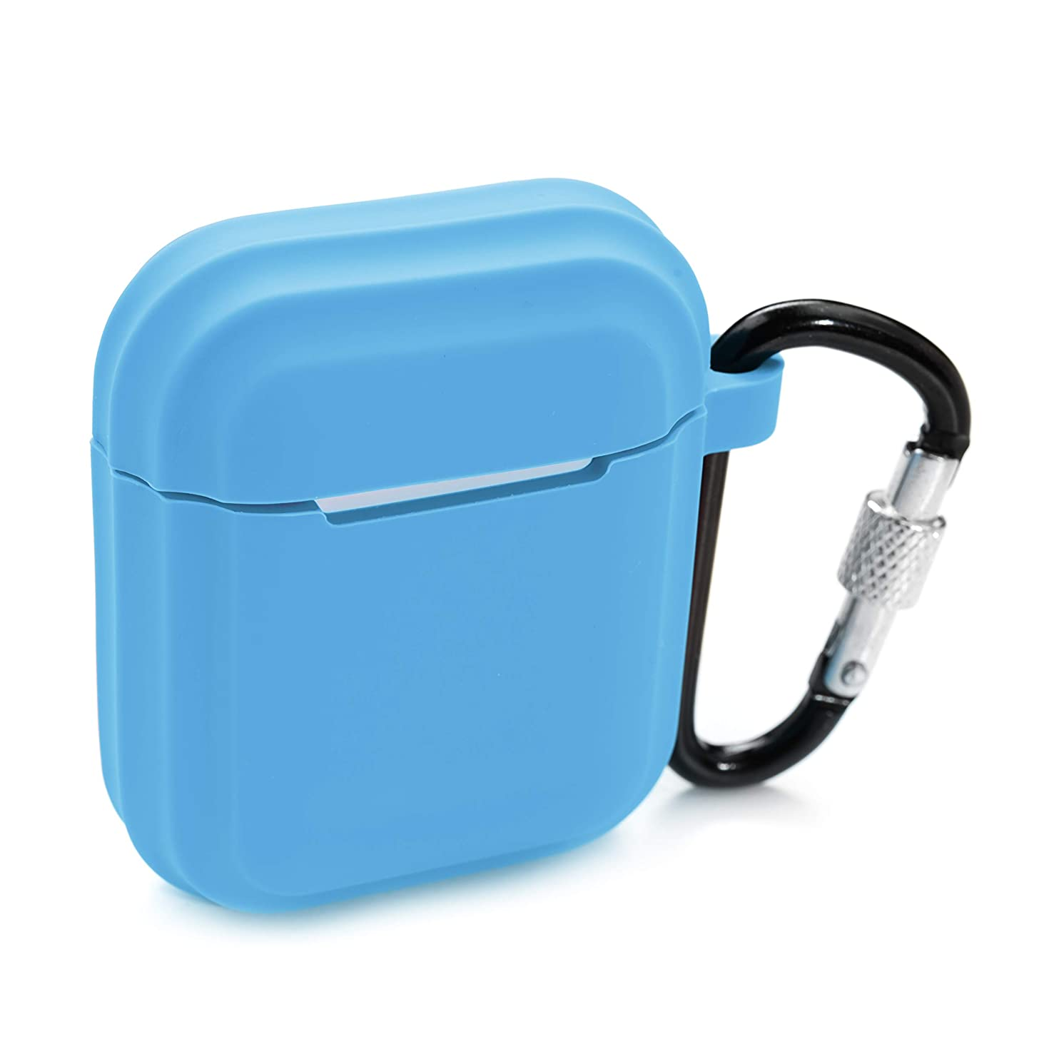 PeepCase AirPods Case Cover for AirPod 1 & 2 Light Blue Shockproof with Wireless Charging Support and Keychain
