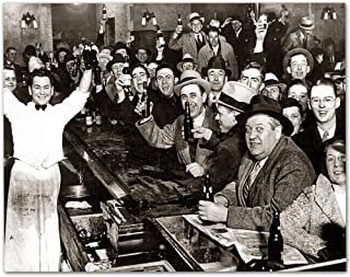 Best The Night Prohibition Ended - 11x14 Unframed Art Print - Makes a Great Man Cave and Bar Decor Under $15 Review