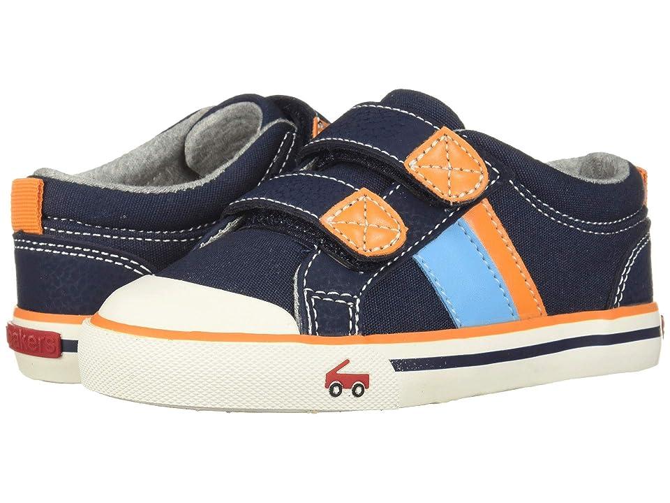 See Kai Run Kids Russell (Toddler/Little Kid) (Navy/Orange) Boys Shoes