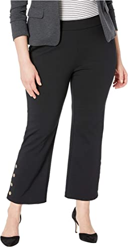 Plus Size Button Up Trousers