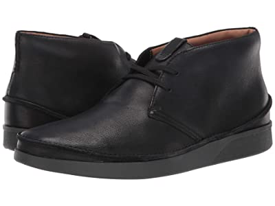 Clarks Oakland Rise (Black Leather) Men