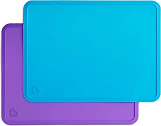 Munchkin Silicone Placemats for Kids, 2 Pack, Blue/Purple