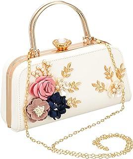 Emma Smith Evening Bag for Women, Floral Wedding Evening Clutch Purse Bride Party Clutch Bag