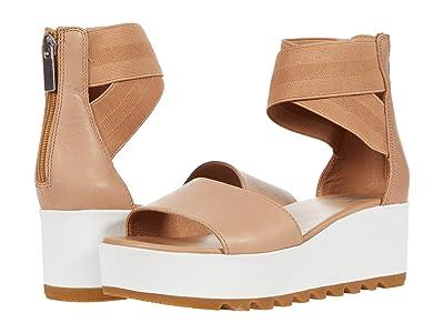 SOREL Cameron Flatform Ankle Strap (Honest Beige) Women