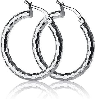 Best sparkly hoop earrings Reviews