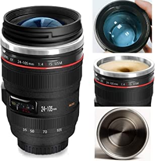 Minisoo Camera Lens Coffee Mug12ozthe Latest Style Stainless Steel Travel Mugs 100% Leak Proof~Insulated Cup Works Great for Ice DrinkHot Beverage~Novelty Gifts Thermos Cup for Outdoor Activities