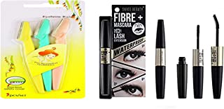 Swiss Beauty 4D WATERPROOF FIBRE Plus MASCARA 2 IN 1 EYE Lash Extension For 5X more Length Volume of EyeLashes (FREE EYE B...