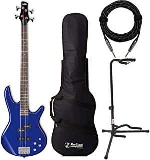 $229 » Ibanez GIO Electric Bass Guitar (GSR200) Bundled with Gig Bag, Stand and Knox Guitar Cable (4 Items)