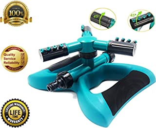 Leafgreen Garden Sprinkler, Automatic 360 Rotating Adjustable Lawn Sprinkler Covers up to 3600 sq ft Premium Quality Lawn Irrigation System