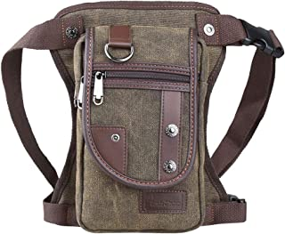 Genda 2Archer Canvas Sport Outdoor Multi-Pocket Leg Bag