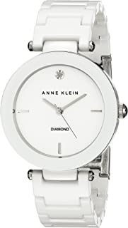 Women's AK/1019WTWT Diamond-Accented Watch with Ceramic Bracelet