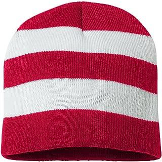 SP01 - Rugby Striped Knit Beanie