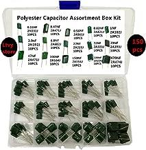 OCR 24Value 660Pcs Polyester Film Capacitor Assortment Box Kits Range 0.22nF ~ 470nF