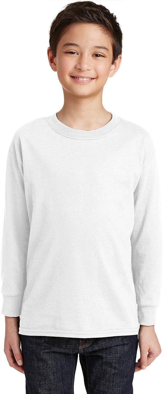 Gildan Youth Heavy Cotton 100% Cotton Long Sleeve Tee 20F