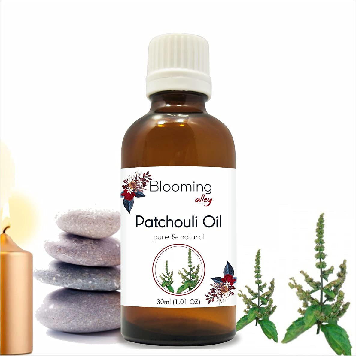 大佐小説パプアニューギニアPatchouli Oil (Pogostemon Cablin) Essential Oil 30 ml or 1.0 Fl Oz by Blooming Alley