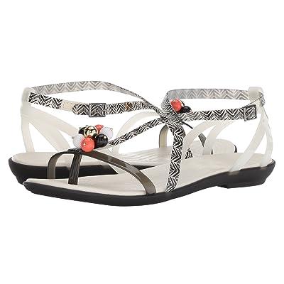 Crocs Drew x Crocs Isabella Graphic Sandal (Black/White) Women