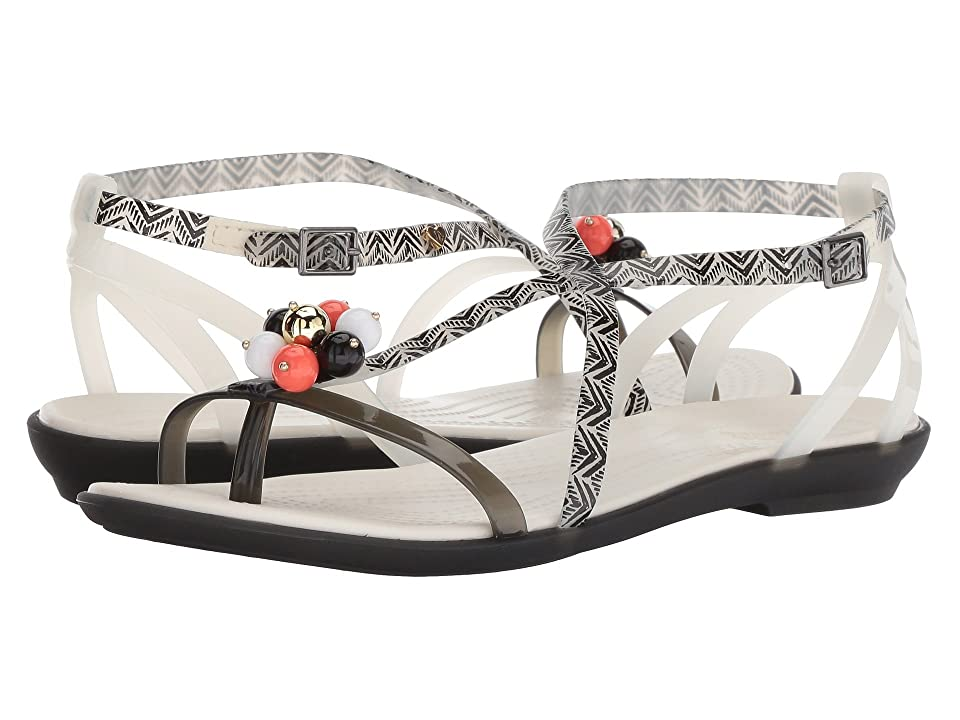 Crocs Drew x Crocs Isabella Graphic Sandal (Black/White) Women