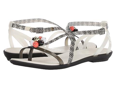 Cheap Low Price Fee Shipping Sale 100% Original Crocs Drew x Crocs Isabella Graphic Sandal Black/White ca1Oh3LDuH