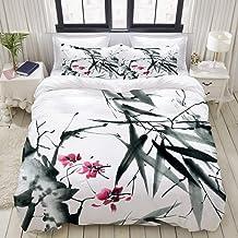 MOBEITI Bettwäsche-Set,Natürliche Heilige Bambusstämme Ki