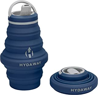 HYDAWAY Collapsible Water Bottle, 17 oz Spout Lid   Ultra-Packable, Travel-Friendly, Food-Grade Silicone
